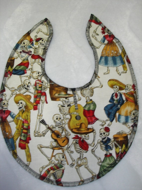 Boutique baby bib day of the dead