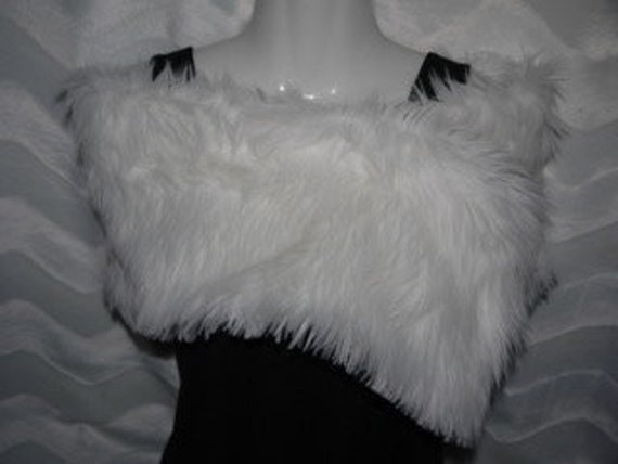 Faux Fur Shag Wrap Stole Great for Weddings