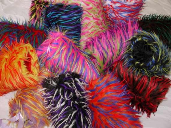 Saari Design The Neon Collection Faux Fur Hand Muffs, faux fur hand muffs, Neon hand muff, Stoles,