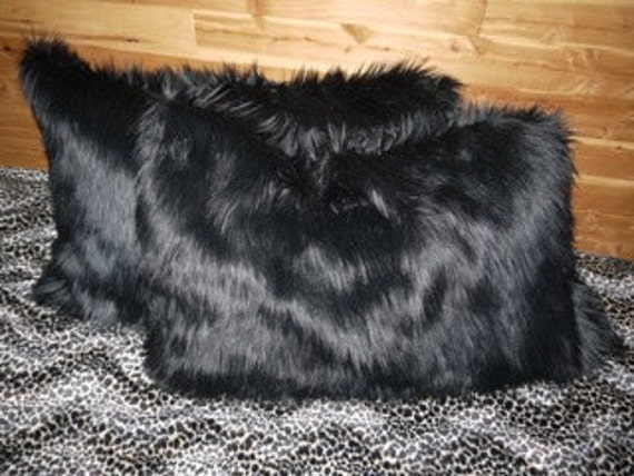 SAARI DESIGN Faux fur throw pillowcases set of 2 OR 1 body pillowcase Your Choice of many furs
