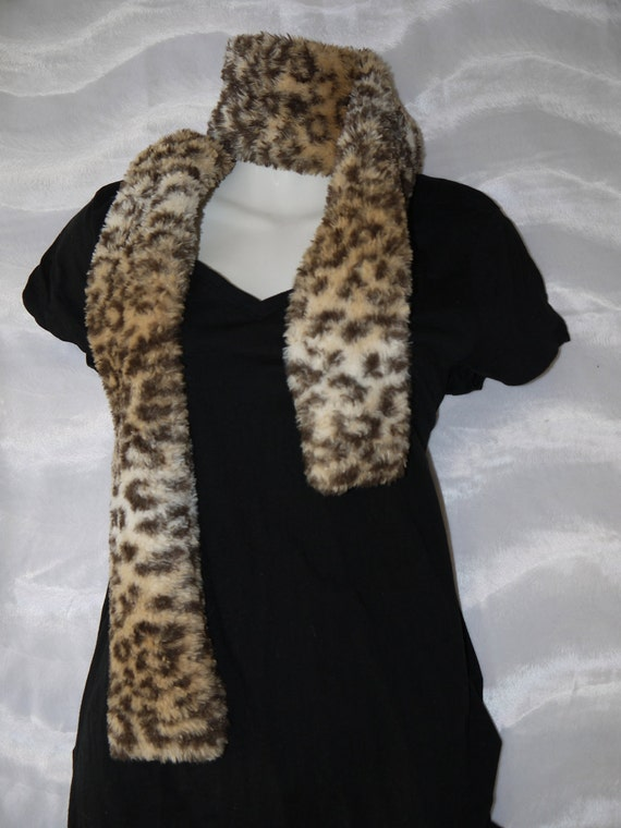 Cheetah Faux Fur  wrap scarf  Weddings Super Soft