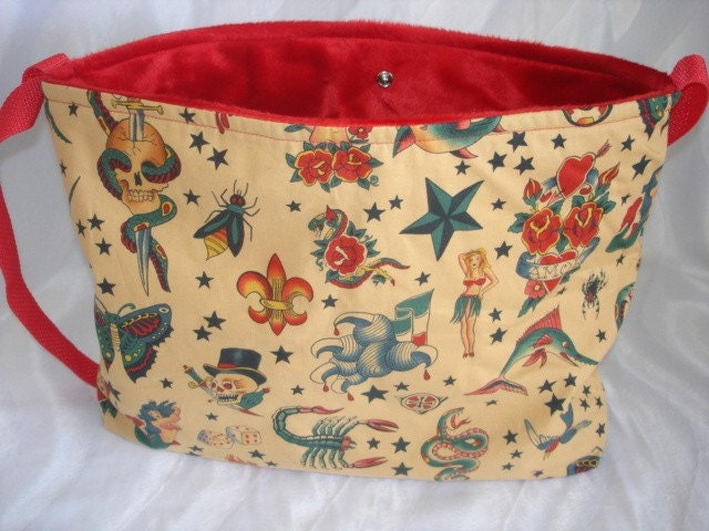 Tattoo baby diaper bag tote or purse choose your own FABRIC