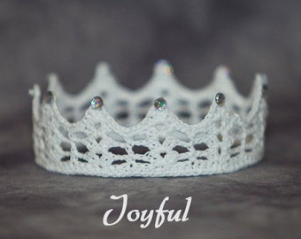 PATTERN - Crochet Crown - Joyful