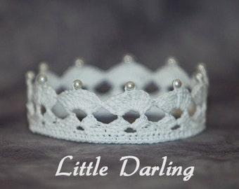 PATTERN - Crochet Crown - Little Darling
