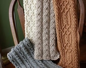 Mountain Range Scarves Crochet Pattern - Set of 4