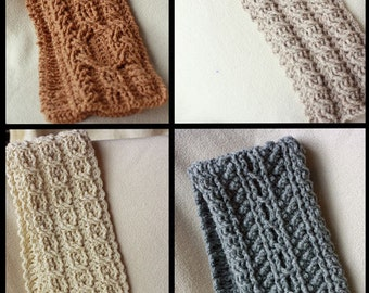 Canyon River Cable Scarves Crochet Pattern - 4 Striking Cable Designs