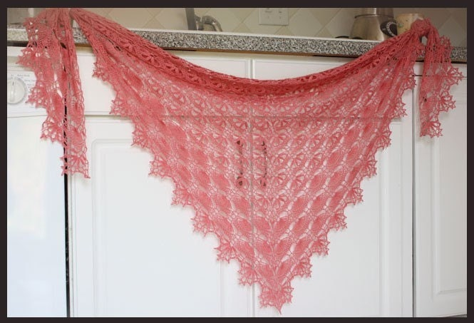 Maia Shawl Crochet Pattern Lace Weight