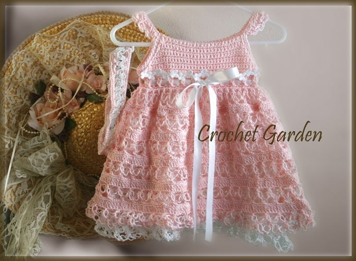 Charlotte Belle Crochet Pattern Baby Toddler Dress With