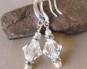 Crystal Clear Swarovski Crystal Sterling Silver earrings