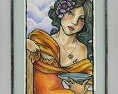 The Journey Oracle Deck Original Illustration - Card No.44 - The Wish