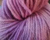 Lavender Hand-Dyed Yarn, Worsted