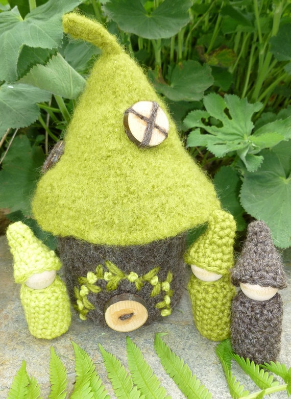 Felted Woodland Gnome Home