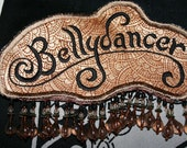 bellydancer patch - gold & black