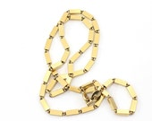 vintage 1970's BRASS RECTANGLE necklace