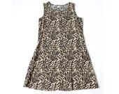 vintage 90's rayon WILD ADVENTURE safari animal print dress