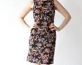 vintage 90's PASTEL BOUQUET floral flower print mini dress