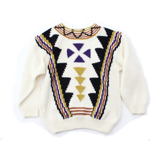 vintage 1980's CABIN TEMPLE geometric sweater