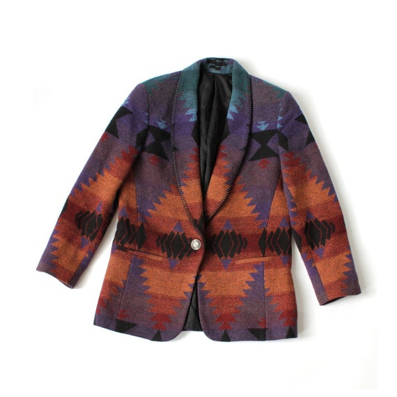 vintage 90's wool DESERT SUNSET southwest print blazer jacket