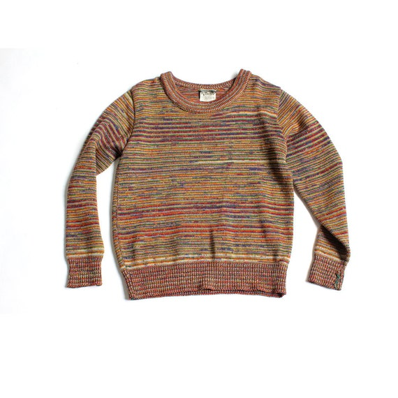 vintage 1970's SPACE DYE kandel knitting mills portland wool sweater