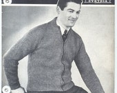 Yarncraft Mens and Boys Sweaters 1940s Knitting Pattern Book