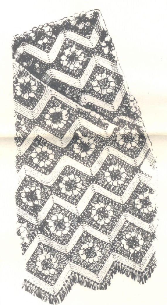 Vintage Ripple Crochet Afghan Pattern : Vintage Crochet Pattern for Granny and Ripple Afghan