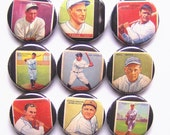 Old Baseball Cards- 1 Inch Pinback Button Set of 9