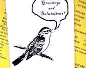 Greetings And Salutations- Greeting Card/White