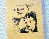 I Love You -Greeting Card/Large/Coffee