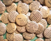 RESERVED FOR casward - Words Enough For A Lifetime Together-200 1 Inch Pinback Buttons