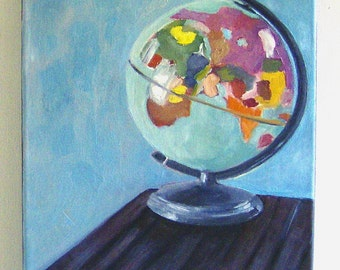 Original Oil Painting-Portrait of My Globe
