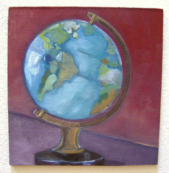 Original Oil Painting-Portrait of My Small Globe