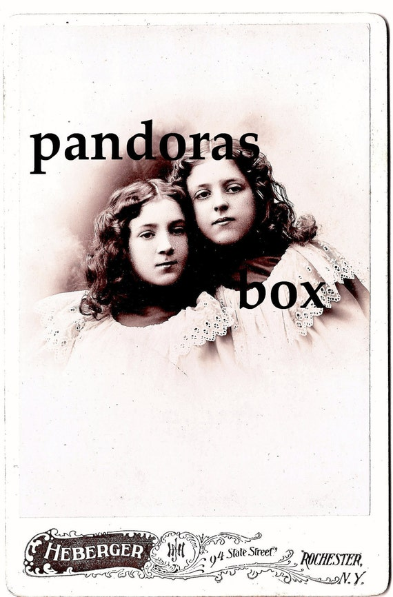 Vintage Cabinet Card - The Angels In The Choir
