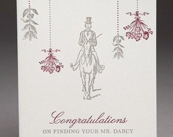 Mr. Darcy Card- Pride & Prejudice Letterpress