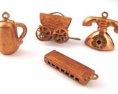 Vintage Copper Charms