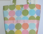 Boutique Pastel Polka Dots Tote