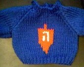 Handmade Jewish Dreidel Hanukkah Sweater for 16 inch Cabbage Patch Kid Doll