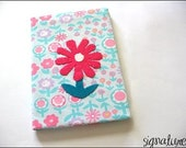 Hardcover Journal with flower