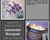 LAVENDER BOUQUET - Super-Scented Travel Tin Soy Candle 6oz by SparklePuss Seattle