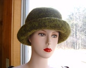 Felted Hat Beautiful Variegated Greens