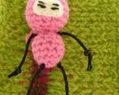 Pink Pocket Ninja Cellphone Charm