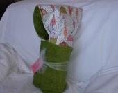 Flannel Umbrella Print Hooded Towel