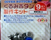 12mm (1/2 inch) Button Covers Tool and Supplies to make Fabric Covered Buttons for craft needlework embellishment craft scrapbooking DIY hobby kit - Australia UK Italy France Germany Brazil Denmark US and more