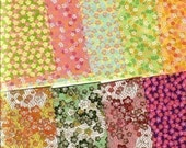 ORIGAMI PAPER - Floral designs - very pretty - great for folding embellishment decoupage collage scrapbooking cardmaking and other crafts