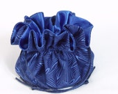 Jewelry Drawstring Bag...Tote... Isadora in Blue From Blank Quilting... Medium