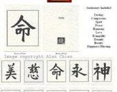 Chinese Character Sentiment Note Cards Greeting Cards Set of 10