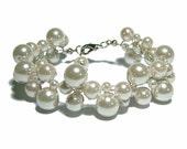 Bridal Bracelet - bubble cluster bracelet