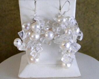 Bridal Cluster Earrings