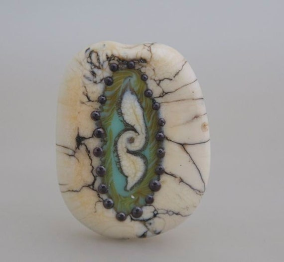 Fossil Series Focal Bead- Sea Cucumber