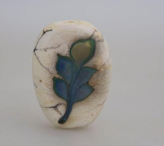 Fossil Series Focal Bead- Leaf