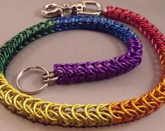 Rainbow Chainmail Wallet Chain